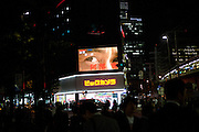 Big brother is watching you: Projection of a plasma television in Tokyo. Tokyo has 13.01 million inhabitans, is the Japanese capital and the largest city in Japan. Tokyo, Japan, 20.10 2010.