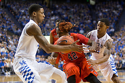 Kentucky guard Charles Matthews, left, steals the ball from Ole Miss guard Stefan Moody in the first half. The University of Kentucky hosted Ole Miss, Saturday, Jan. 02, 2016 at Rupp Arena in Lexington.