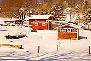 Winter, snow, rural landscape, Cumru Township, Berks Co., PA
