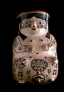 PERU, PRE-COLUMBIAN Nazca; vase of mother giving birth