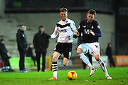 Sam Kelly of Port Vale FC and Cian Bolger of Southend United during the Sky Bet League 1 match between Port Vale and Southend United at Vale Park, Burslem, England on 26 February 2016. Photo by Mike Sheridan.