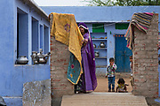 Dhil tribal area near Jodhpur. Homes are built with open courtyards.