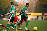 Burgess Hill defender Jonah Ayunga during the Ryman Premier League match between Merstham and Burgess Hill at Moatside, Merstham, United Kingdom on 31 December 2016. Photo by Andy Walter.