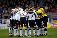 Photo: Daniel Hambury.<br />Northampton Town v Swansea City. Coca Cola League 1. 28/10/2006.<br />Swansea's team in a group hug.