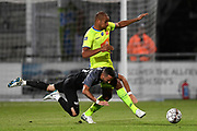 Danijel Milicevic and Vadis Odjidja fight for the ball during the Jupiler Pro League matchday 4 between Kas Eupen and Kaa Gent on August 19, 2018 in Eupen, Belgium, Photo by David Hagemann /Isosport / Pro Shots / ProSportsImages / DPPI