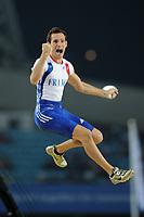 ATHLETICS - IAAF WORLD CHAMPIONSHIPS 2011 - DAEGU (KOR) - DAY 3 - 29/08/2011 - PHOTO : STEPHANE KEMPINAIRE / KMSP / DPPI - <br /> POLE VAULT - MEN - FINALE - BRONZE MEDAL - RENAUD LAVILLENIE (FRA)