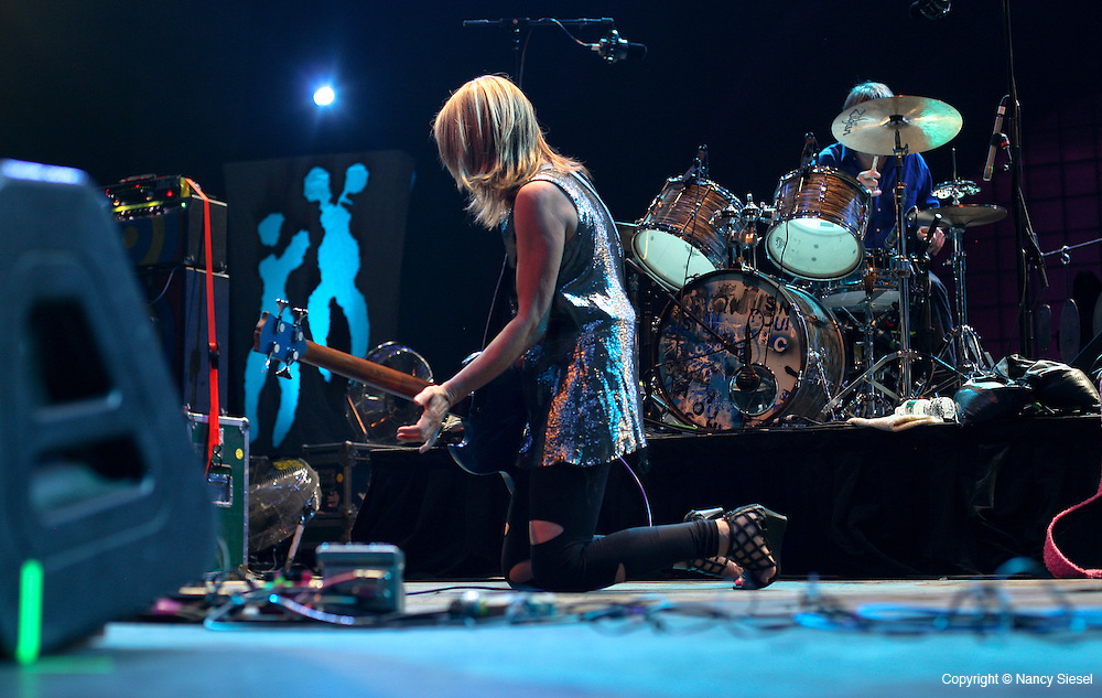 Kim Gordon and Thurston Moore performed to a capacity crowd on July 31st at Celebrate Brooklyn in Park Slope,Brooklyn.