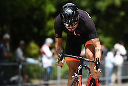 May 20, 2018 - Sakai, Osaka, Japan - Colombian rider Felix Alejandro Baron Castillo from Team Illuminate during the opening stage, 2.6km Individual Time Trial in Daisen Park, Sakai..On Sunday, May 20, 2018, in Sakai,  Osaka Prefecture, Japan. (Credit Image: © Artur Widak/NurPhoto via ZUMA Press)