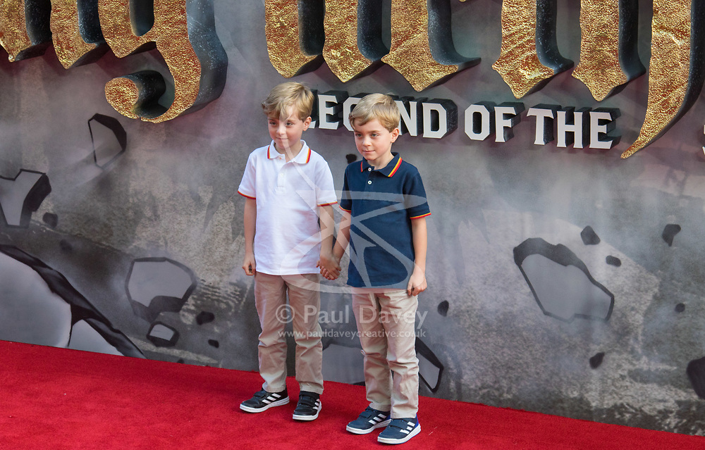 London, May 10th 2017. Zac Barker and Oliver Barker attends the European premiere of King Arthur - Legend of the Sword at the Cineworld Empire in Leicester Square.