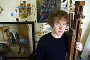 Artist Christian Furr in his studio