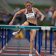 Olympic Silver medalists Sally McLellan of Australia winning the Women's 100m hurdles in 12.84 at the Sydney Track Classic 2009 held at Sydney Olympic Park Athletics Centre, Sydney, Australia on February 28, 2009. Photo Tim Clayton