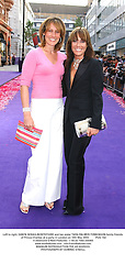 Left to right, SANTA SEBAG-MONTEFIORE and her sister TARA PALMER-TOMKINSON family friends of Prince Charles, at a party in London on 18th May 2004.PUG 162