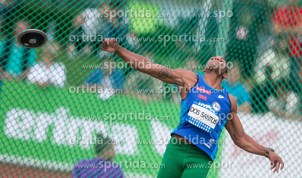 29.05.2016, Moeslestadion, Goetzis, AUT, 42. Hypo Meeting Goetzis 2016, Zehnkampf der Herren, Diskus, im Bild Felipe Dos Santos (BRA) // Felipe Dos Santos of Brasil in action during the discus throw event of the Decathlon competition at the 42th Hypo Meeting at the Moeslestadion in Goetzis, Austria on 2016/05/29. EXPA Pictures © 2016, PhotoCredit: EXPA/ Peter Rinderer
