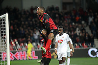 JOIE GUINGAMP  / Christophe MANDANNE / Claudio BEAUVUE     - 24.01.2015 - Guingamp / Lorient - 22eme journee de Ligue1<br />