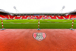 A general view of the Aesseal New York Stadium, home to Rotherham United - Mandatory by-line: Ryan Crockett/JMP - 16/11/2019 - FOOTBALL - Aesseal New York Stadium - Rotherham, England - Rotherham United v Accrington Stanley - Sky Bet League One