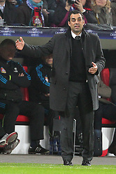 23.11.2011, BayArena, Leverkusen, Germany, UEFA CL, Gruppe E, Bayer 04 Leverkusen (GER) vs Chelsea FC (ENG), im Bild Robin Dutt (Trainer Leverkusen) // during the football match of UEFA Champions league, group E, between Bayer Leverkusen (GER) and FC Chelsea (ENG) at BayArena, Leverkusen, Germany on 2011/11/23.EXPA Pictures © 2011, PhotoCredit: EXPA/ nph/ Mueller..***** ATTENTION - OUT OF GER, CRO *****