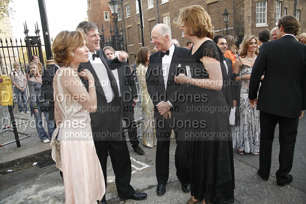 Sheherazade Goldsmith, Zac Goldsmith and Lord Jacob Rothschild, Ark Gala Dinner, Marlborough House, London. 5 May 2006. ONE TIME USE ONLY - DO NOT ARCHIVE  © Copyright Photograph by Dafydd Jones 66 Stockwell Park Rd. London SW9 0DA Tel 020 7733 0108 www.dafjones.com