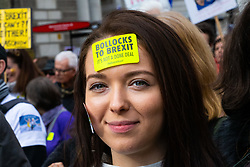 Organisers claim up to a million people from across the UK are marching from Park Lane to Parliament demanding a People's Vote on the EU withdrawal agreement before the UK leaves the EU. London, March 23 2019