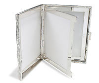 silver picture frame wallet size