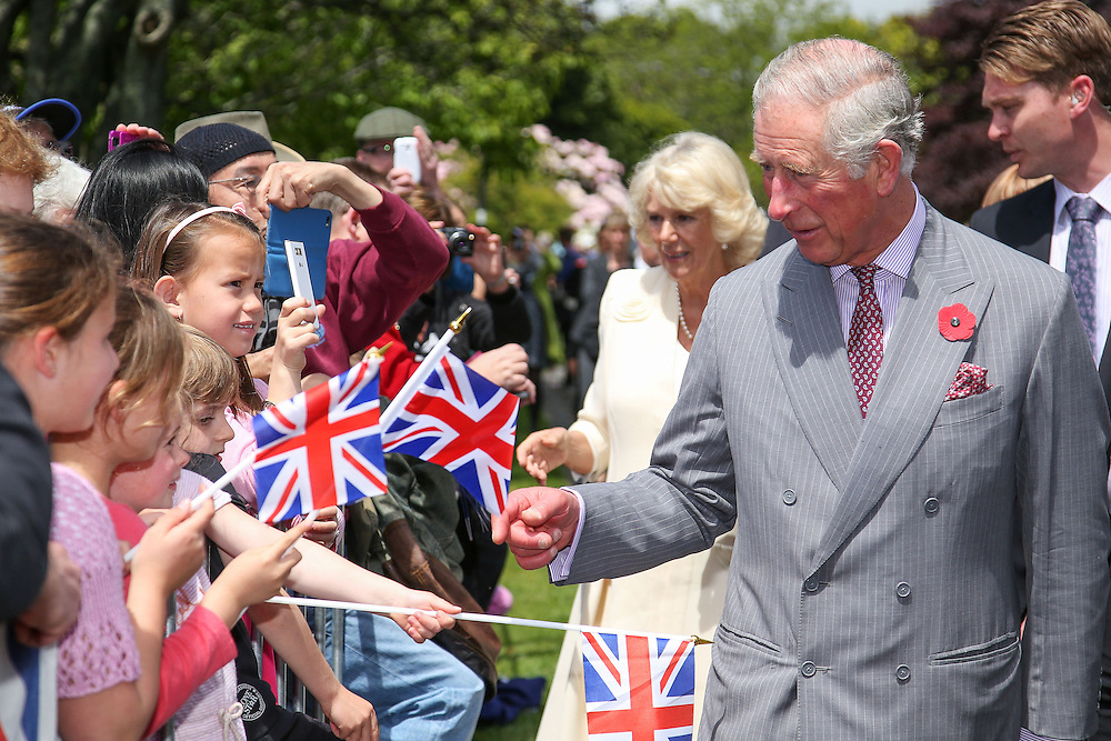 Prince Charles, Prince of Wales, and Camilla, Duchess of Cornwall meet fans during the 'Tea With Taranaki' event at Brooklands Park , New Plymouth, New Zealand, New Zealand, Monday, November 09, 2015. Credit:SNPA / Getty, Hagen Hopkins  **POOL**