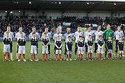 Scotland and mascots line up before kick off - Scotland v Holland - UEFA U21 European Championship qualifier at St Mirren Park..© David Young - .5 Foundry Place - .Monifieth - .Angus - .DD5 4BB - .Tel: 07765 252616 - .email: davidyoungphoto@gmail.com.web: www.davidyoungphoto.co.uk