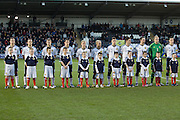 Scotland and mascots line up before kick off - Scotland v Holland - UEFA U21 European Championship qualifier at St Mirren Park..© David Young - .5 Foundry Place - .Monifieth - .Angus - .DD5 4BB - .Tel: 07765 252616 - .email: davidyoungphoto@gmail.com.web: www.davidyoungphoto.co.uk