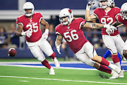 ARLINGTON, TX - AUGUST 26:  Scooby Wright III #56 of the Arizona Cardinals goes after a loose ball during a game against the Dallas Cowboys at AT&T Stadium during week 3 of the preseason on August 26, 2018 in Arlington, Texas.  The Cardinals defeated the Cowboys 27-3.  (Photo by Wesley Hitt/Getty Images) *** Local Caption *** Scooby Wright III