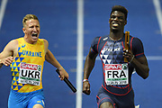 Mouhamadou Fall competes in men relay 4x100m during the European Championships 2018, at Olympic Stadium in Berlin, Germany, Day 6, on August 12, 2018 - Photo Philippe Millereau / KMSP / ProSportsImages / DPPI