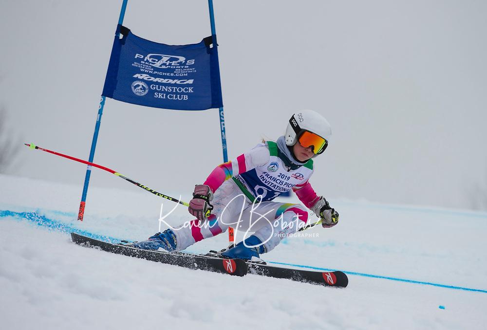 Piche Invitational giant slalom U14 girls  2nd run.    ©2019 Karen Bobotas Photographer