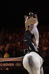 Reka Gadolla, Agnes Kiraly, (HUN), Zakarias, Natalia Sandor - Pas de Deux Vaulting - Alltech FEI World Equestrian Games™ 2014 - Normandy, France.<br /> © Hippo Foto Team - Jon Stroud<br /> 04/09/2014