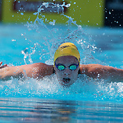 Emily Seebohm, Australia, in action in the Women's 200m IM heats at the World Swimming Championships in Rome on Sunday, July 26, 2009. Photo Tim Clayton.