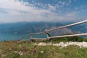 Italy, Monte Baldo overlooking Lake Garda