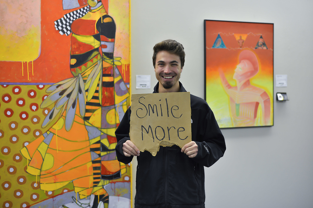 Artist at Summit Artspace during Akron Art Prize 2014.