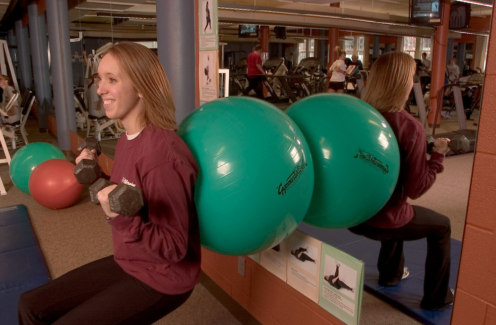 16912Wellworks/ Students with Client photos staff: Students..Exercise Ball:.Marisa Mowery