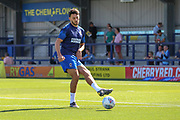 AFC Wimbledon defender Will Nightingale (5) warming up during the EFL Sky Bet League 1 match between AFC Wimbledon and Shrewsbury Town at the Cherry Red Records Stadium, Kingston, England on 14 September 2019.