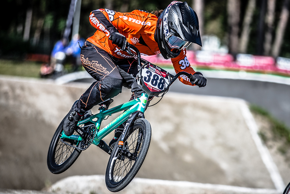 #388 (BAAUW Judy) NED during practice at Round 5 of the 2018 UCI BMX Superscross World Cup in Zolder, Belgium