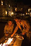 Couple making s'mores at Allegretto Resort, Paso Robles, California