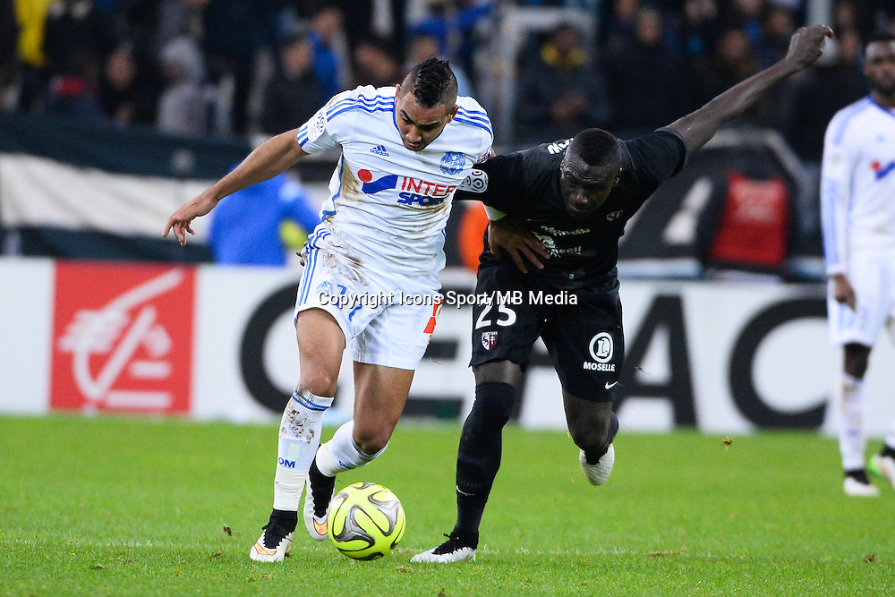 Dimitri PAYET / Guirane NDAW - 07.12.2014 - Marseille / Metz - 17eme journee de Ligue 1 -<br />
