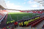 Rotherhams New York stadium before the Sky Bet Championship match between Rotherham United and Charlton Athletic at the New York Stadium, Rotherham, England on 30 January 2016. Photo by Ian Lyall.