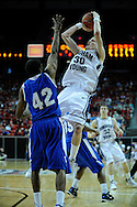12 MAR 2009:  Air Force Academy takes on Brigham Young University during the Mountain West Conference Men's Basketball Tournament held at the Thomas & Mack Center in Las Vegas, NV.  Brett Wilhelm/NCAA Photos