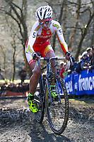 Lucie CHAINEL  - 11.01.2015 - Cyclo cross - Championnats de France Femmes - Pontchateau<br /> Photo : Vincent Michel / Icon Sport