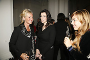 Amanda Elliasch and Nigella Lawson, USA Today. Saatchi Gallery and The Royal academy of Arts. Piccadilly. London. 5 October 2006. -DO NOT ARCHIVE-© Copyright Photograph by Dafydd Jones 66 Stockwell Park Rd. London SW9 0DA Tel 020 7733 0108 www.dafjones.com