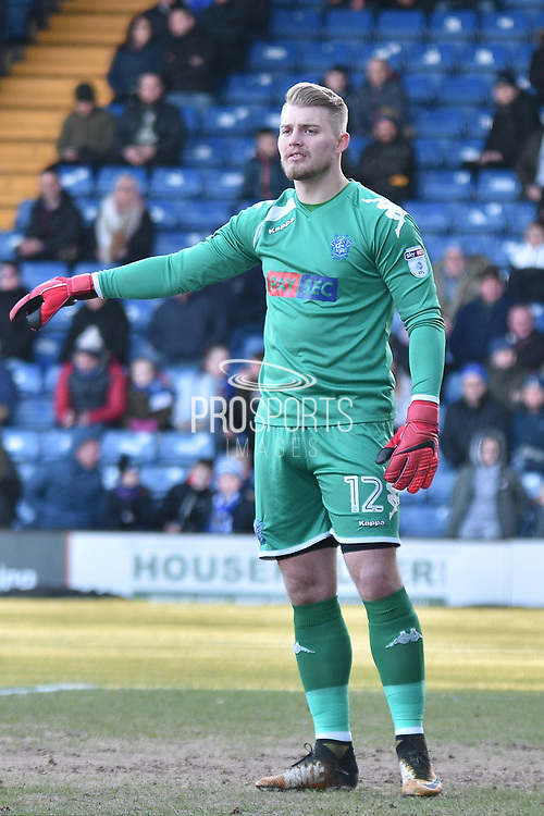 Bury Goalkeeper, Connor Ripley (12) during the EFL Sky Bet League 1 match between Bury and Gillingham at the JD Stadium, Bury, England on 24 February 2018. Picture by Mark Pollitt.