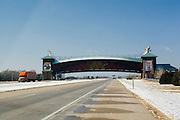 Nebraska NE USA, The Great Platte River Road Archway Monument. a museum that is also a bridge over the interstate (I-80).