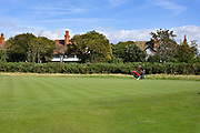 Alex Smalley (USA) lines up a put on the third green during the Saturday Singles in the Walker Cup at the Royal Liverpool Golf Club, Saturday, Sept 7, 2019, in Hoylake, United Kingdom. (Steve Flynn/Image of Sport)