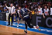 Abass Awudu Abass Esultanza<br /> Pallacanestro Cantu' - Basket Leonessa Brescia<br /> Basket Serie A LBA 2018/2019<br /> Desio 07 April 2018<br /> Foto Mattia Ozbot / Ciamillo-Castoria