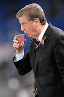 """Il te dell allenatore Roy HODGSON <br /> Roma Fulham<br /> Roma 05/11/2009 Stadio """"Olimpico""""<br /> Euroleague 2009/2010<br /> Foto Insidefoto"""