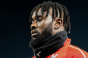 Crystal Palace defender Pape N'Diaye Souaré (27) warming up before The FA Cup 3rd round match between Crystal Palace and Grimsby Town FC at Selhurst Park, London, England on 5 January 2019.