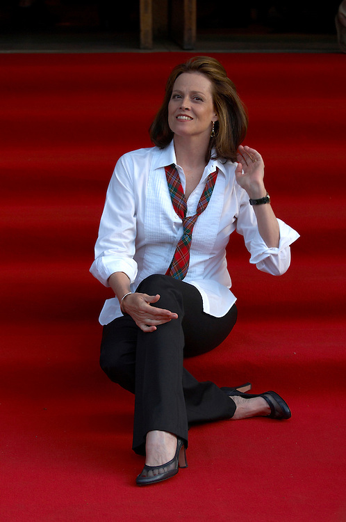 Actress Sigourney Weaver at the premiere of her movie &quot;Snow Cake&quot; at the Edinburgh International Film festival 2006<br />