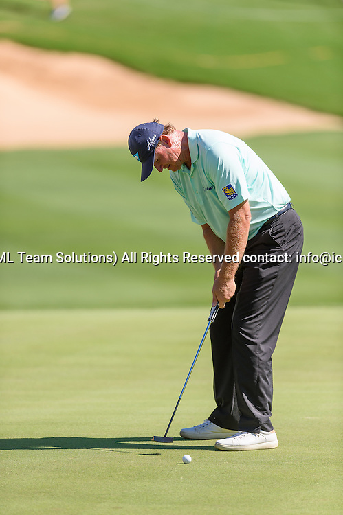 21 April 2016:  Ernie Els during the first round of the Valero Texas Open at the TPC San Antonio Oaks Course in San Antonio, TX. (Photo by Daniel Dunn/Icon Sportswire)